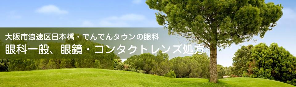 大阪市浪速区日本橋・でんでんタウンの眼科 眼科一般、眼鏡・コンタクトレンズ処方
